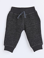 Boy's Casual/Daily Solid PantsCotton Fall Black