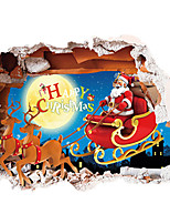 Weihnachten / Personen / 3D Wand-Sticker Flugzeug-Wand Sticker / 3D Wand Sticker Dekorative Wand Sticker,PVC StoffRepositionierbar /
