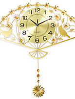 Modern/Contemporary Houses Wall ClockNovelty Iron 62*64cm Indoor Clock
