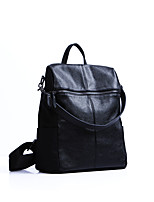 Casual Event/Party Office & Career Backpack Women Cowhide Black