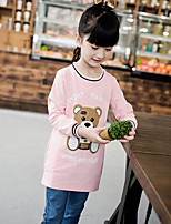 Girl's Casual/Daily Print Tee / Jacket & CoatCotton Fall Black / Pink / Red / White