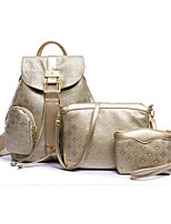 Women PU Casual / Outdoor Bag Sets Beige / Blue / Gold / Black