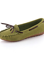Women's Boat Shoes Spring / Fall Moccasin / Comfort PU Dress Flat Heel Bowknot / Others Black / Green / Red / Gray Others