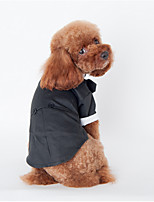 Dog Hoodie Black Dog Clothes Winter / Spring/Fall Britsh Sports / Fashion / Casual/Daily /