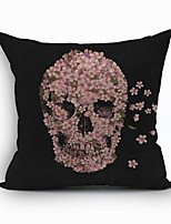 Polyester Decorative Cushion Pillow Cover Skull Sofa Home Decor 45x45cm