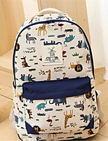 Women Canvas Casual Backpack Blue / Green