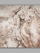 Hand-Painted Abstract / Animal /Horse Classic/Modern One Panel Canvas Oil Painting For Home Decoration