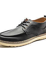 Men's Oxfords New Arrival / Comfort / Leisure Shoes / Fashion / Casual Flat Heel Lace-up Black / Brown Walking