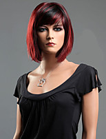 Black Red Mixed Straight Hair Wave Synthetic Fiber Wig