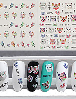 3pcs Nail Sticker Art Autocollants de transfert de l'eau Maquillage cosmétique Nail Art Design