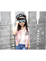 Girl's Casual/Daily Solid Suit & BlazerCotton / Polyester Spring / Fall Orange / Pink