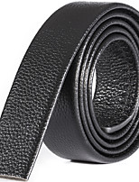 Katusi 10 Mens Belt Business Casual First Layer of Leather No Buckle 3.5cm Width kts10-1