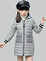 Girl's Casual/Daily Print Down & Cotton Padded,Polyester Winter Red / Gray