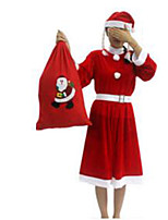 Christmas Costume/Holiday Halloween Costumes Red Solid Skirt / Belt / Hats Christmas Female Pleuche