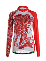 Sports Cycling Jersey Women's Long Sleeve Thermal /Front Zipper / Back Pocket / Ultra Light Fabric Bike Jersey