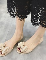 Women's Sandals Summer Comfort Leatherette Casual Flat Heel Bowknot Black / Almond Others