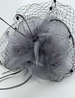Vrouwen Veren / Net Helm-Bruiloft / Speciale gelegenheden / Informeel Fascinators 1 Stuk