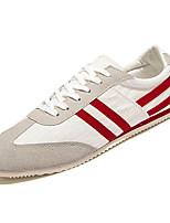 Черный / Красный-Мужской-Для прогулок / На каждый день-Полиуретан-На плоской подошве-Удобная обувь-Кеды