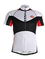 Sports Cycling Jersey Men's Short Sleeve Breathable / Quick Dry / Front Zipper / Soft / Compression / Comfortable