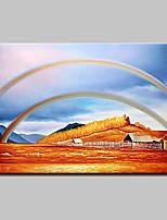 Ручная роспись Пейзаж / Абстрактные пейзажи Картины маслом,Modern 1 панель Холст Hang-роспись маслом For Украшение дома