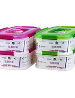 Kitchen Rectangular Lunch Box Stackable Storage Containers(2.3L*2P)