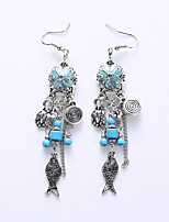 Drop Earrings Earrings Jewelry Alloy Fashion Black Blue Jewelry Wedding Party Halloween Daily 1 pair