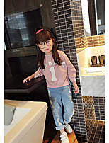 Girl's Casual/Daily Solid TeeCotton Spring / Fall Green / Pink