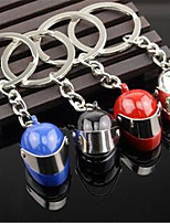 Metal Helmet Key Button Creative Car Key Ring