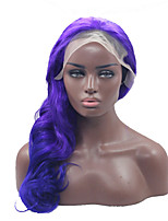 Natural Curly Purple Color Synthetic Lace Front Wig Glueless Heat Resistant Hair Women Wigs