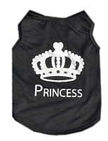Cool Black Polyester Crown Dog Vest Summer Breathable Dog Clothes for Pets