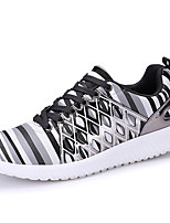 Men's Sneakers Spring / Fall Comfort PU Casual Flat Heel Others / Lace-up Gray / Black and Gold / Black and White Walking