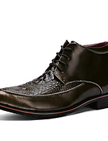 Men's High Top Oxfords Casual/Office & Career/Wedding/Party & Evening Leather Walking Fashion Business Shoes