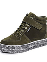 Women's Sneakers Spring / Summer / Fall Novelty Fabric Outdoor / Athletic / Casual Flat Heel Lace-up Black / Green