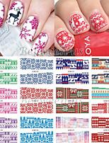 12pcs Стикер искусства ногтя Вода Передача Переводные картинки макияж Косметические Nail Art Design