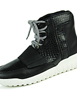Men's Fashion Boots Comfort Combat Boots Outdoor Casual High Top Flat Heel Lace-up Black / Blue / White EU39-43