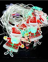 20pcs Santa Claus Ornament Led Lamp Series Of Halloween Day 4 Meters
