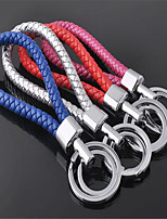 Hand-Woven Leather Rope Key Chain Couple Key Ring Car Pendant