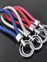 corde en cuir tissé à la main clé couple chaîne porte-clés pendentif voiture