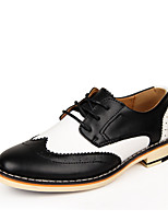 Men's Oxfords Fashion Bullock Carved Leather Shoes Office & Career / Party & Evening / Casual Flat Heel Lace-up EU39-42