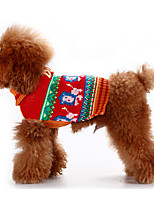 Dog Sweater Coffee Dog Clothes Winter / Spring/Fall Cartoon Classic / Keep Warm