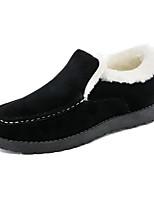 Men's Flats Fall / Winter Comfort  Casual Flat Heel Black / Blue / Khaki Walking