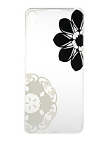 Diagonal Flowers Pattern High Permeability TPU Material Phone Case for  Xperia XA  Xperia E5