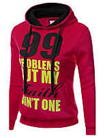 Casual/Daily Cute Regular HoodiesPrint Red / White / Orange / Yellow Hooded Long Sleeve Cotton Fall /