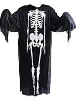 1pc Halloween vêtements et des gants de fantômes et crier masque de squelette