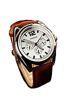 335 YAZOLE Fashion Men's Business Dress Watch Leather Strap Blue Ray Glass Analog Quartz Wrist Watches