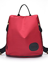 Casual Outdoor Shopping Backpack Women Nylon Purple Blue Red Black
