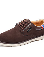 Men's Oxfords Spring Summer Fall Winter Comfort Leatherette Casual Flat Heel Lace-up Black Blue Brown Walking