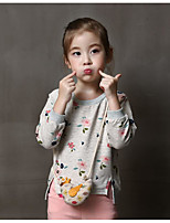 Girl's Casual/Daily Floral Hoodie & SweatshirtCotton Spring / Fall Gray