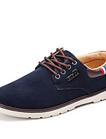 Men's Sneakers Fashion Boots Nubuck leather Spring Summer Fall Winter Casual Outdoor Office & Career Walking Split Joint Flat HeelBlue