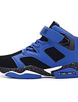 Hombre-Tacón Plano-Confort-Zapatillas de deporte-Informal-PU-Negro Azul Rojo Blanco